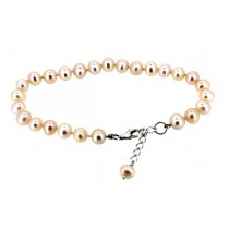 Sterling silver Fresh Water Pearl Bracelet Pink