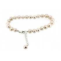 Sterling silver Fresh Water Pearl Bracelet White