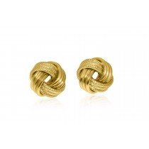 9ct. Yellow Gold Knot Earrings