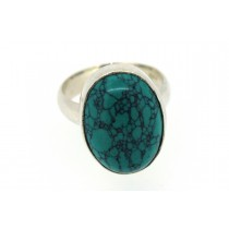 Sterling silver Turquoise Ring Oval Shape