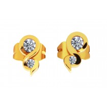 18ct Yellow Gold 0.44ct 2 stone Diamond Studs Earrings