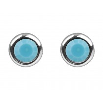 Sterling Silver 925 Birthstone December Turquoise 4mm Studs
