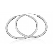 925 Sterling Silver Sleeper Hoop Earrings 45mm