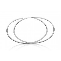 925 Sterling Silver Sleeper Hoop Earrings 50mm