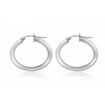 925 Sterling Silver Hoop Earrings 18mm
