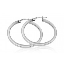 925 Sterling Silver Hoop Earrings 24mm