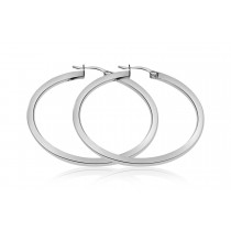 925 Sterling Silver Hoop Earrings 44mm