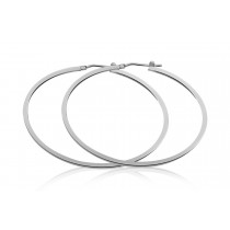 925 Sterling Silver Hoop Earrings 54mm