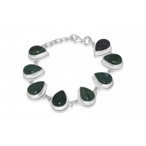 Sterling Silver 925 Bloodstone Bracelet Pear 16*12mm
