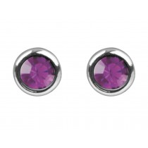 Sterling Silver 925 Birthstone June Light Amethyst 4mm Studs
