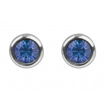 Sterling Silver 925 Birthstone September Sapphire 4mm Studs