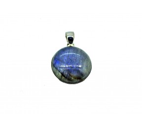 Labradorite Cabs Pendant 925 Sterling Silver Round 25mm