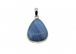 Blue Lace Agate Cabs Pendant 925 Sterling Silver Pear 30 to 35mm