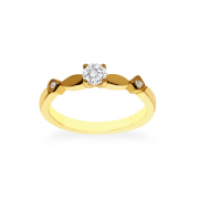 18ct 750 Yellow Gold 0.27ct Claw Solitaire Diamond Ring