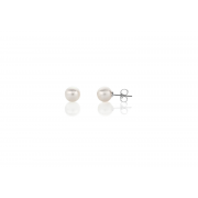 925 Silver 7mm White Fresh Water Pearl Stud Earrings
