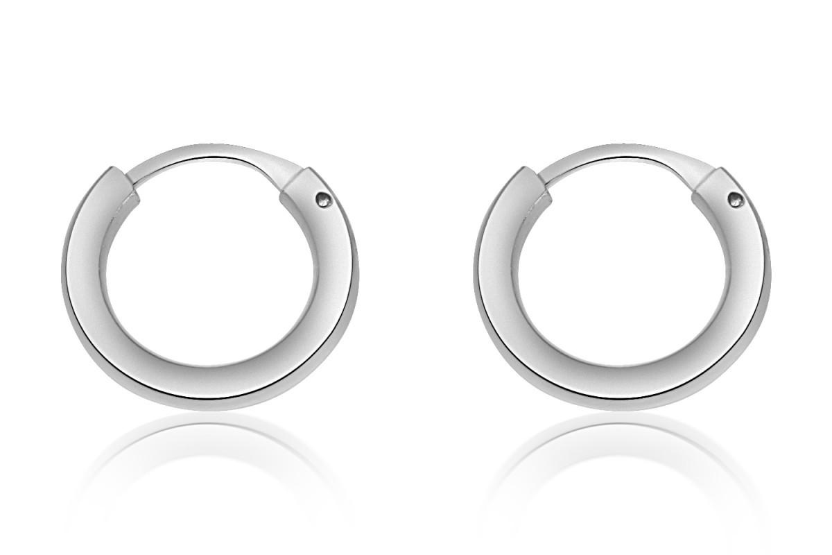925 Sterling Silver Children's Sleeper Hoop Earrings 12mm