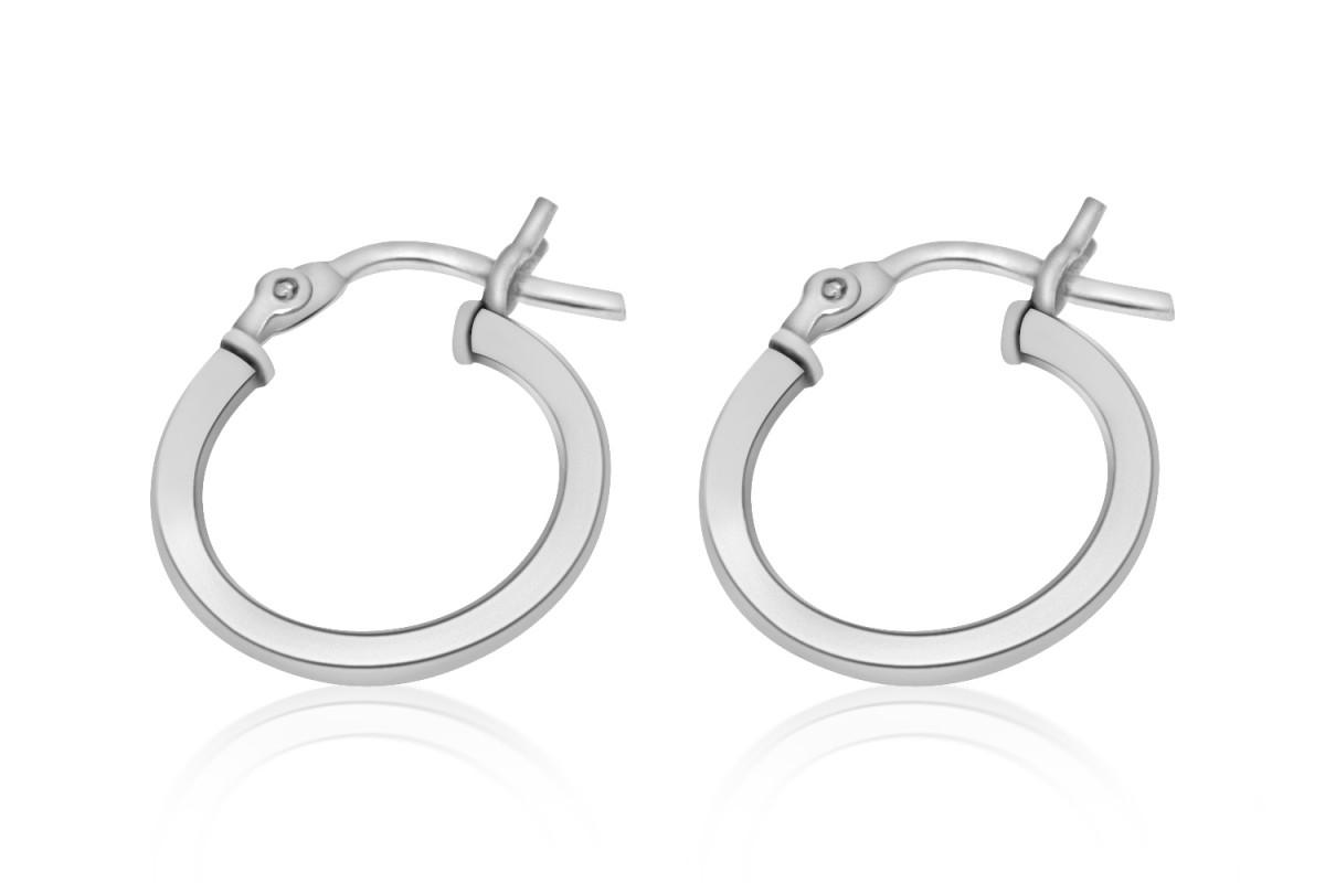 925 Sterling Silver Hoop Earrings 15mm