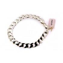 Sterling silver Men's Curb Link Bracelet Plain