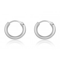 925 Sterling Silver Children's Sleeper Hoop Earrings 12mm