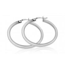 925 Sterling Silver Hoop Earrings 24mm