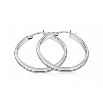 925 Sterling Silver Hoop Earrings 34mm
