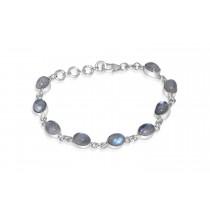 925 Sterling Silver Oval Labradorite Bracelet Oval 8mm*6mm