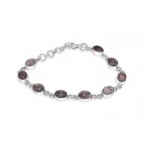 925 Sterling Silver Rose Quartz Bracelet Oval 8mm*6mm