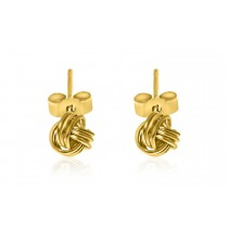 9ct. 375 Yellow Gold Knot Earrings