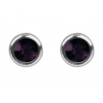 Sterling Silver 925 Birthstone January Garnet 4mm Studs