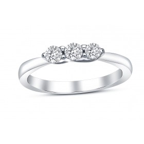 18ct White Gold 0.35ct Diamond Ring-M