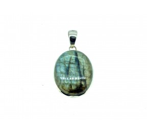 Labradorite Cabs Pendant 925 Sterling Silver Oval 20mm