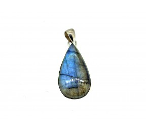 Labradorite Cabs Pendant 925 Sterling Silver Pear 30mm