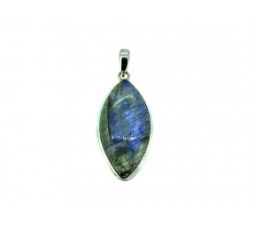 Labradorite Cabs Pendant 925 Sterling Silver Marquise 40mm