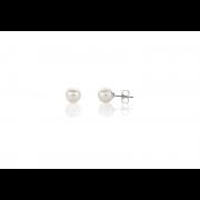 925 Silver 7mm White Fresh Water Pearl Stud Earrings